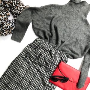 Vintage stretch waist skirt and sweater set